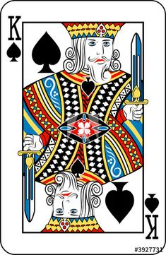 The Tower Tarot, King Of Spades, Cake Templates, 2d Art, Paper Dolls, Cover Design, Royalty Free Stock Photos, Deck, Playing Cards