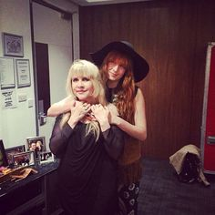 Florence Welch and Stevie Nicks