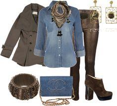 Outfits de Moda ...Me Tomo Cinco Minutos: Estilo Casual Chic