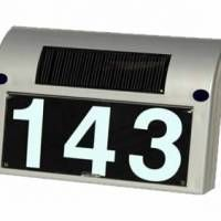 A solar powered address number lighting device. The cab driver and pizza delivery man will love you to bits!