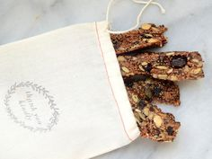 Nutty Vegan Granola Bars | via Camille Styles