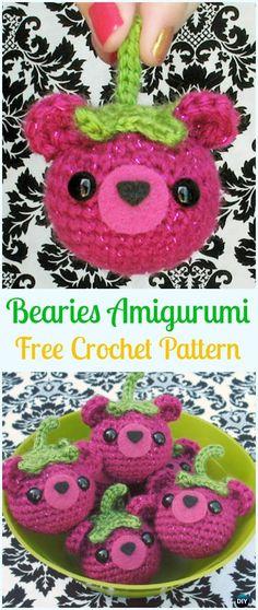 Crochet Bear Bearies Amigurumi Free Pattern - Amigurumi Crochet Teddy Bear Toys Free Patterns