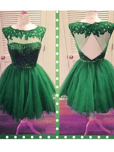 A-line+Scoop+Short/Mini+Tulle+Cocktail+Dresses/Short+Prom+Dress#+ZP525