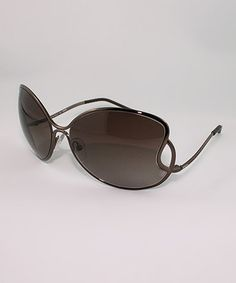 Take a look at this Bronze Infinity Sunglasses by FENDI on #zulily today!
