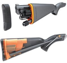"""AR-7 .22LR Survival Rifle. Holds 3 mags (8 rounds each) with receiver and 16"""" barrel in waterproof butt-stock.  Sells for around under $300 as shown."""