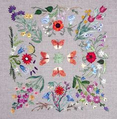 SQUARE DANCE embroidery kit. Via canevasfollies.ch