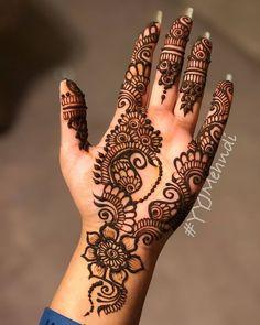 Beautiful bridal mehendi ideas to try. Easy Mehndi Designs, Henna Hand Designs, Dulhan Mehndi Designs, Latest Mehndi Designs, Bridal Mehndi Designs, Pretty Henna Designs, Mehndi Designs Finger, Mehndi Designs For Girls, Mehndi Designs For Beginners