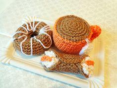 Laura fa: Tazza da tè, donut e cannolo siciliano amigurumi