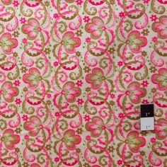 Victoria and Albert PWVA010 Garthwaite Scroll Pink Fabric By Yard #RowanFabric