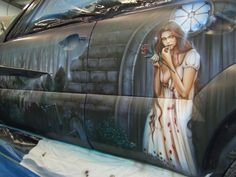 Custom Car Painting - Car Airbrushing - Custom Airbrushing by Advanced Airbrush - Award winning airbrushed artwork on automobiles.