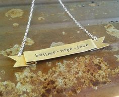Banner Necklace by JanuaryJewelryShop, $35.00