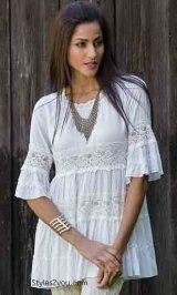ST Julia Tunic Blouse In White
