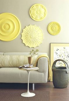 medallions as wall art -- geometric, clean-lined, suttle but stylish