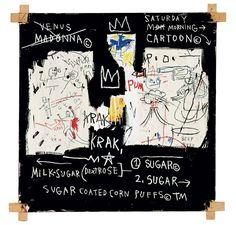 La visite virtuelle du jour : l'exposition Keith Haring x Jean-Michel Basquiat à la National Gallery of Victoria.© Estate of Jean-Michel Basquiat. Licensed by Artestar, New York Jean Michel Basquiat Art, Jm Basquiat, Madonna, Keith Haring, Musée Guggenheim Bilbao, Basquiat Paintings, Art Gallery Of Ontario, National Gallery, Art History