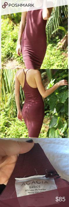 Acacia Hanoi dress merlot NWT BNWT acacia hanoi dress in merlot acacia swimwear Dresses Midi