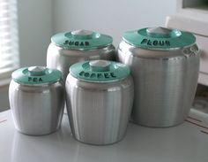 kromex turquoise canisters