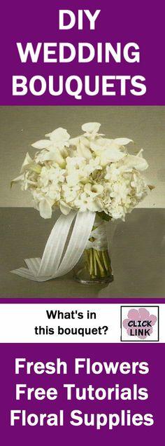 http://www.wedding-flowers-and-reception-ideas.com/how-to-make-a-wedding-bouquet-stephanotis-and-callas.html  - Hydrangeas, calla lilies, and stephanotis for a fragrant bridal bouquet.