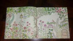 Mais uma página terminada do livro jardim secreto.