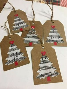 Cute handmade tags for Christmas presents! Best Picture For christmas rustic For Your Taste You are looking for something, and it … Diy Christmas Tags, Christmas Gift Wrapping, Homemade Christmas, Christmas Projects, Christmas Holidays, Christmas Gift Labels, Musical Christmas Cards, Musical Christmas Decorations, Music Christmas Ornaments