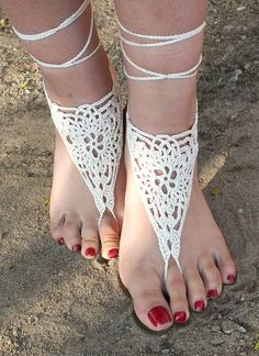 Image result for Barefoot Sandals Crochet Pattern Free