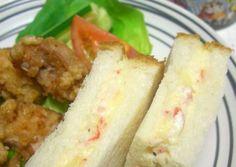 Crab Sticks and Potato Salad Sandwich Recipe -  Very Tasty Food. Let's make it!