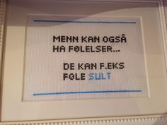 Menn kan også ha følelser... Cross Stitch Harry Potter, Friendship Quotes, Funny Images, Cross Stitch Patterns, Diy And Crafts, Funny Quotes, Jokes, Letters, Embroidery