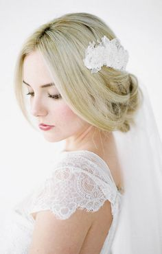 ANNIKA Lace Headpiece Wedding Hair Piece Lace