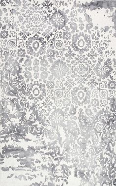 The design on this Rugs USA Dip Dyed DD07 Hand Hooked Wool Tribal Jungle Damask Rug is too lovely!