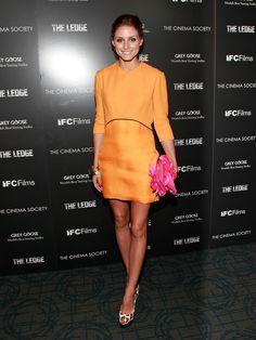A bold Victoria Beckham mini at a film screening in June 2011.                  Image Source: Getty