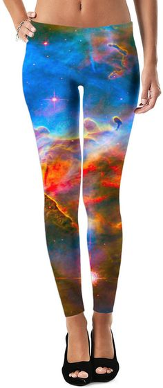 Cosmic Cloud Dubstep Custom Rave Rebel Revolution Style Leggings by Willy Badu. On sale for 49.99 for a limited time.