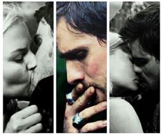 I can never get over how he touches his lips after the kiss.