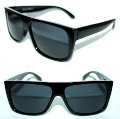 6c384252bece21 Polarized Men s Flat top FlatTop Sunglasses Super Black Frame Retro Style  664  Stars  FlatTop