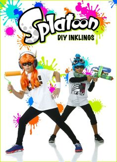 Dress up like a boy or girl Inkling from the hit Nintendo game Splatoon with the the help of this handy DIY. It really doesn't take much to put together a passable Inkling costume. See how we created these cute and fun DIY Splatoon costumes with just a few costume pieces and accessories.