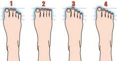 Čo o vás povie tvar prstov na nohách?