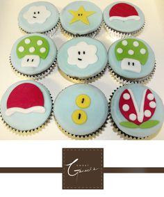 Super Mario birthday cupcakes!