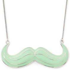 Decree® Mint Mustache Necklace - jcpenney