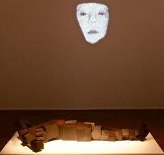 Charles Sandison - First Breath (2005); Antony Gormley - Lie (2013)