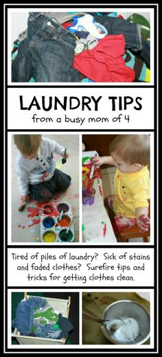 Laundry Tips from a Busy Mom of Four - Say goodbye to stains and let your kids enjoy messy play worry free!