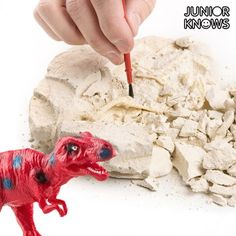 Awaken the urge of little ones at home to learn from the Junior Knows digging game! Includes: 1 Gypsum Block x 11 x 3 cm approx.) 1 Plastic DinosaurAssorted designs randomly shipped to order. Plastic Dinosaurs, Game Prices, Dinosaur Skeleton, Gadgets, Junior, Educational Games, Little Ones, Dinosaurs, Toys