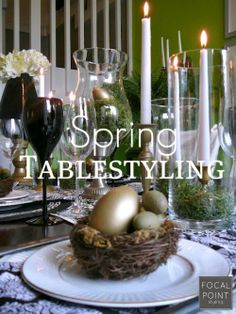 When planning your Easter tablescape, decide whether to serve family style (all food on the table) or buffet style. Serving buffet style can allow for more creativity in your  #Tablescape. #HomeGoodsHappy #HappyByDesign #sponsored