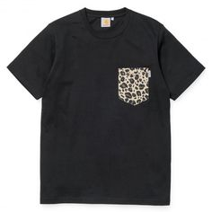 CARHARTT Lester Pocket tee-shirt à poche white paisley jet - black leopard leather 39,00 € #carhartt #carharttwip #carharttworkinprogress #blackfriday #skate #skateboard #skateboarding #streetshop #skateshop @playskateshop