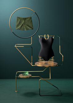 Couleur et matières tendances, alliance du vert et du cuivre / The six &…
