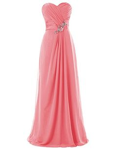 Dresstells Long Chiffon Dress with Beadings Bridesmaid Dresses Wedding Dress Coral Size 2 Dresstells http://www.amazon.com/dp/B00M951MSS/ref=cm_sw_r_pi_dp_7TXRub00VWMJG