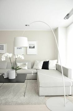 8 Quoet Bild Von Wohnzimmer Deko Creme Living room decoration cream, living room white cream, ideas for living room furnishing in neutral colors, deco Living Room White, Living Room Colors, My Living Room, Living Room Designs, Living Room Decor, White Sectional Sofa, Beige Couch, Small Room Design, Elegant Home Decor
