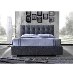Manželská posteľ s roštom 160x200 tmavosivá RAGNAR