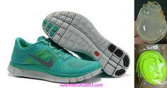 New Mens Nike Free Runs 3 New Green/Reflect Silver/Sail/Volt Shoes