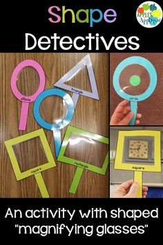 "Shape Detective Activity for Preschool. Kids love using the shaped ""magnifying glasses"" to find shapes in everyday objects around them!"
