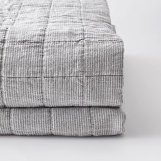 Assembly Stripe Quilt - Charcoal