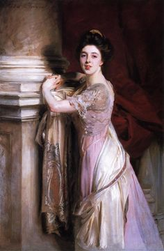 Portrait Of Izme Vickers, 1907 by John Singer Sargent (American, John Singer Sargent, Sargent Art, Beaux Arts Paris, Oil Canvas, Oil Painting Reproductions, American Artists, Great Artists, Lilac, Elegant