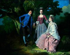"""Edward and Priscilla Wakefield with Mrs Wakefield's Sister, Catherine Bell"", Francis Wheatley, ca. 1774; Norfolk Museums & Archaeology Service NWHCM : 1985.90 : F"